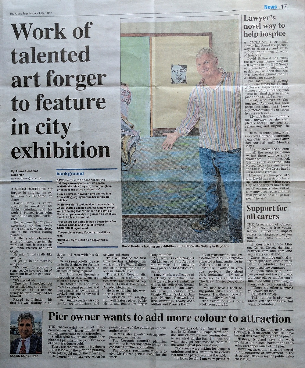David Henty Art | The Argus | Press | Blog