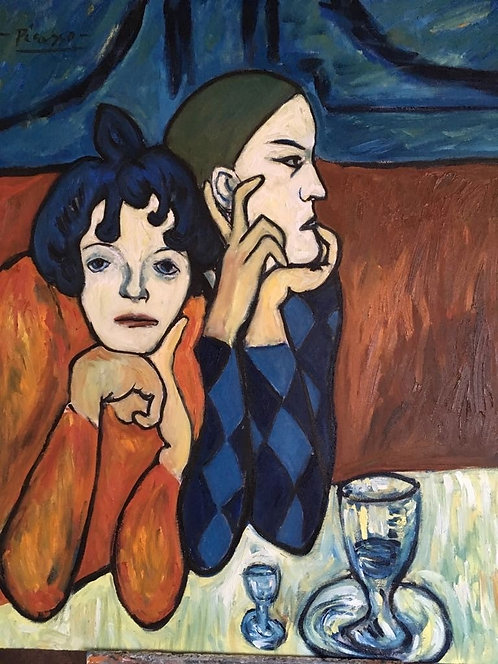 After Pablo Picasso The Two Saltimbanques 1901