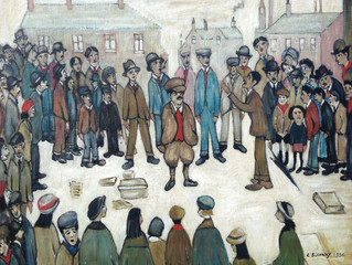 Painting Of The Week - David Henty's recreation of L.S Lowry 'The Politicians'