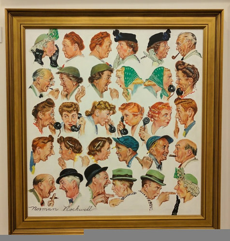 After Norman Rockwell 'The Gossips'