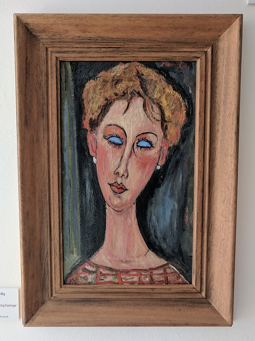 After Amedeo Modigliani 'Portrait Of A Girl Wearing Earrings'