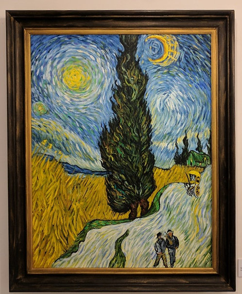After Vincent Van Gogh 'Road with Cypress & Star'