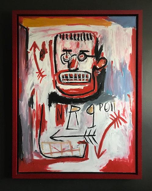 Red Skull Inspired by Basquiat
