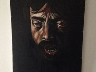 Painting Of The Week - David Henty's recreation of Caravaggio 'Head of Goliath'