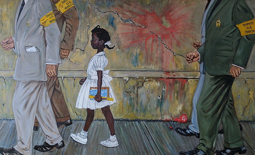 After Norman Rockwell 'The Problem We All Live With'
