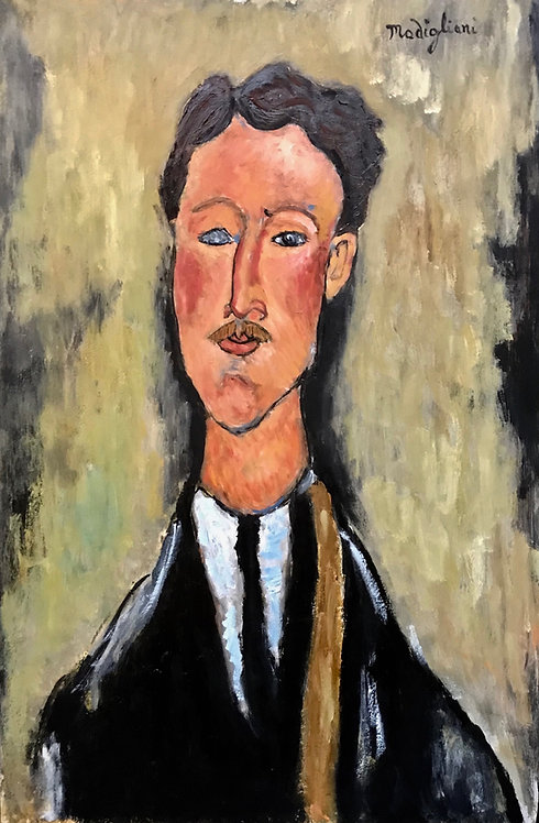 After Amedeo Modigliani Portrait of the artist Leopold Survage 1918