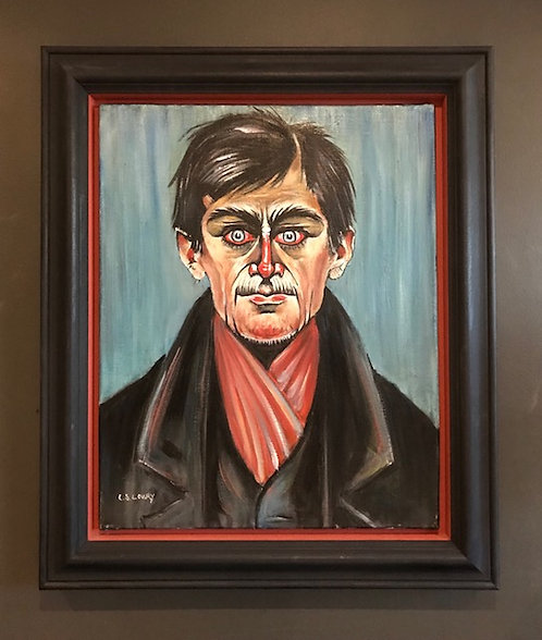 After L.S. Lowry 'Head of a man with red eyes'