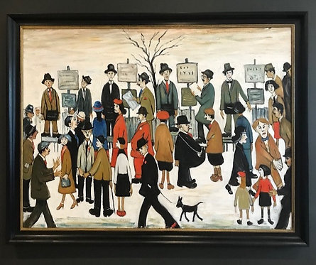 After L.S.Lowry A Northern Race Meeting