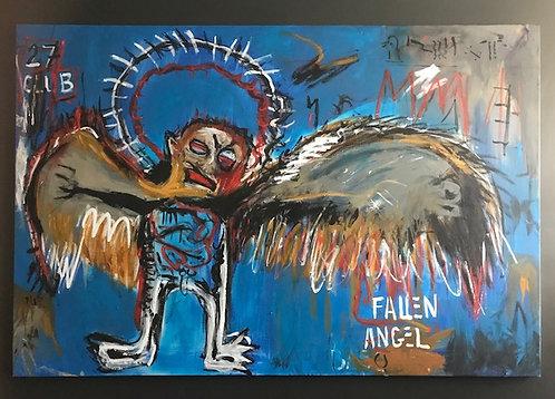 Fallen Angel Inspired by Basquiat