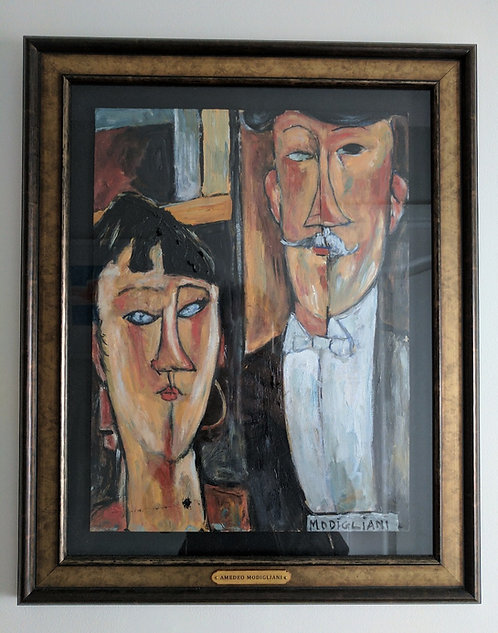 After Amedeo Modigliani 'The Bride And Groom'