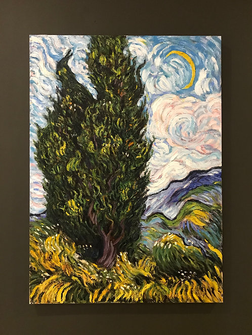 After Vincent van Gogh Cypresses