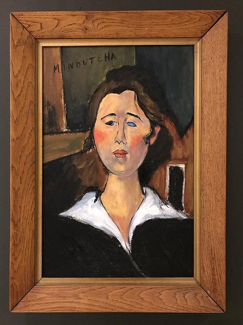"After Amedeo Modigliani ""Minoutcha"""