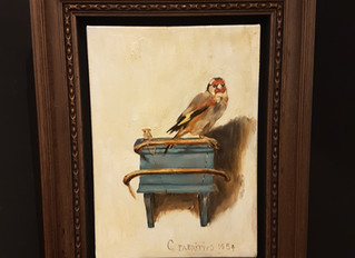 David Henty Art is pleased to present the painting of the month… The Goldfinch by Carel Fabritius