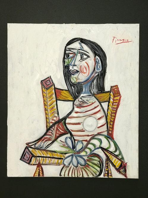 After Pablo Picasso Portrait de Femme