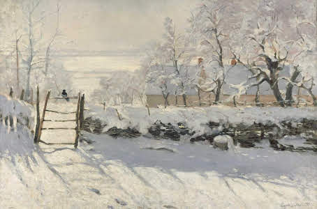 The Magpie After Claude Monet