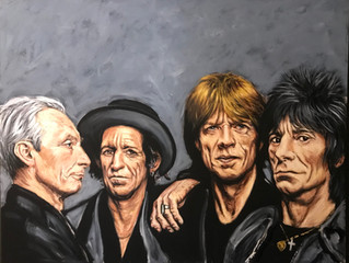 Painting of the Month THE ROLLING STONES