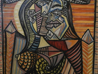 Painting Of The Week - David Henty's recreation of Pablo Picasso 'The Seated Woman'