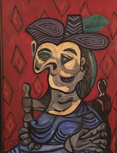 After Pablo Picasso 'Dora Maar ~ Robe Bleue'