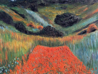 Painting of the Month – Poppy Field in a Hollow near Giverny 1885, after Claude Monet