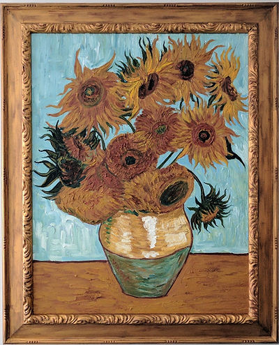 painting of flowers in vase