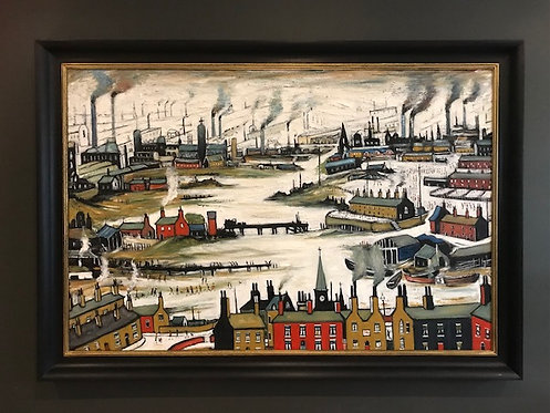 After L.S.Lowry Industrial Scene