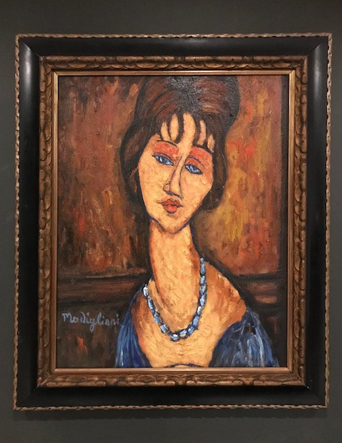 After Modigliani - Jeanne Hebuterne with Necklace