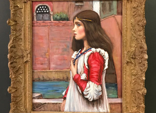 Painting of the Month – Juliet (Alternative title - The Blue Necklace) After J W Waterhouse 1898