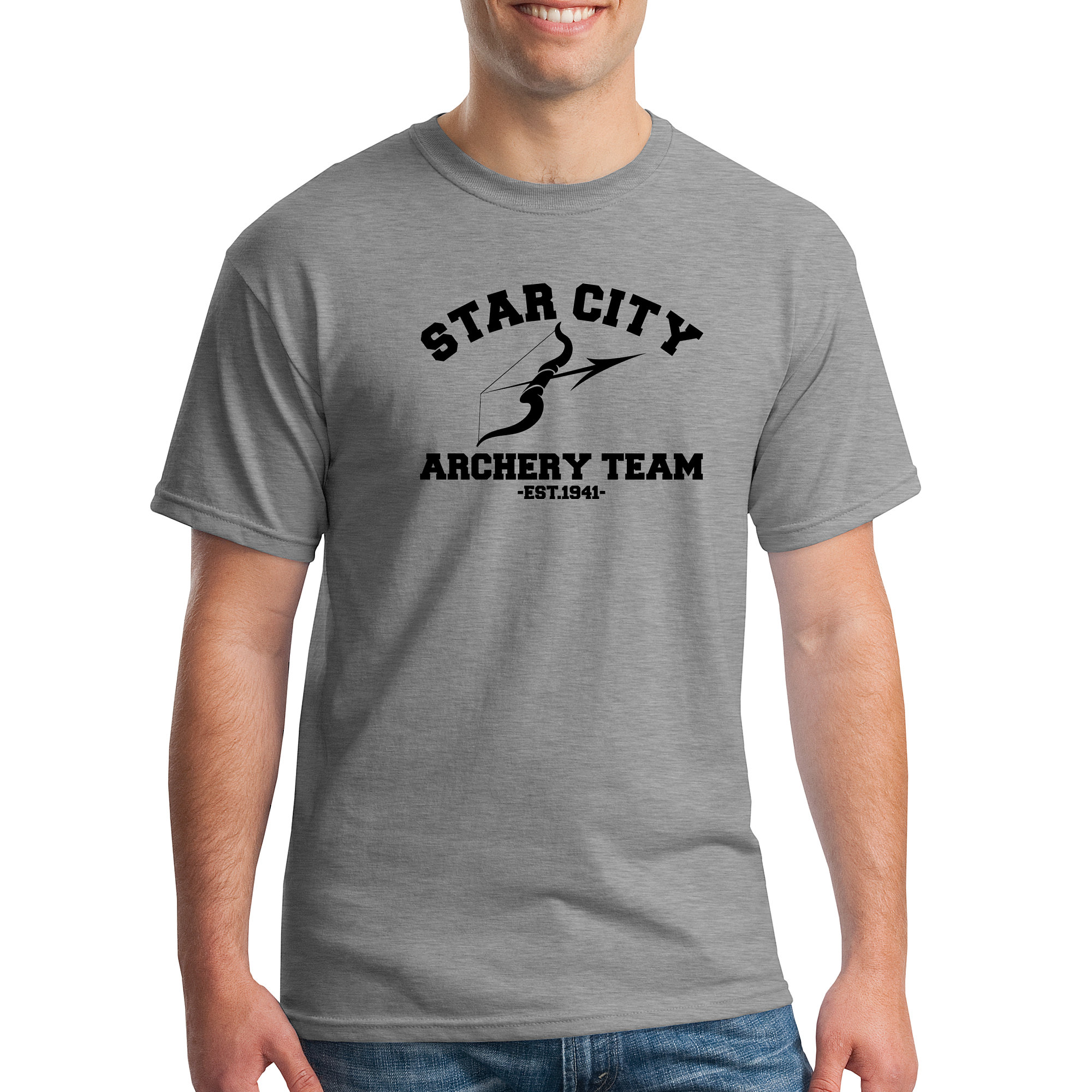 Design t shirt unique - This Green Arrow Themed Scholars Collection T Shirt Features The Star City Archery Team Slogan And Is Designed By And Unique To Abrupt Design