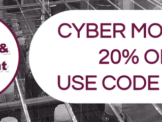 20% OFF CYBER MONDAY SALE