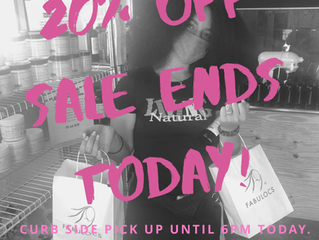 20% OFF SALE ENDS TODAY