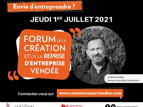Jeudi 1er Juillet 2021 | Forum de la création et de la reprise d'entreprise
