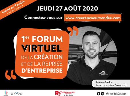 27 août 2020 | Forum Virtuel de la création d'entreprise