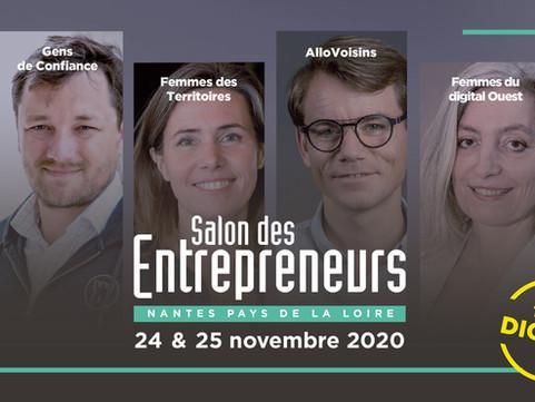 24-25 novembre : la Pépinière participe au Salon des Entrepreneurs de Nantes 2020
