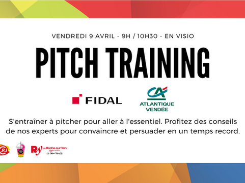 9 Avril - Atelier Pitch Training en visio