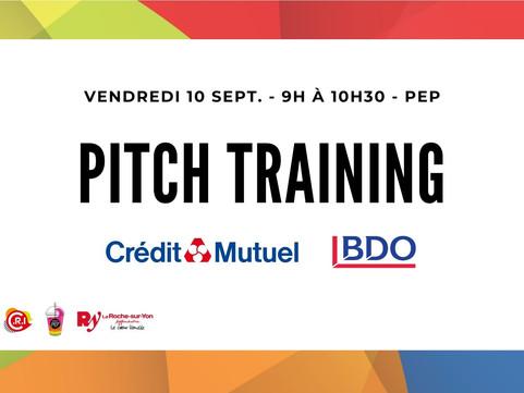Vendredi 10 Sept. - Atelier Pitch Training à la Pépinière