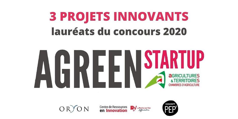 projets agriculture innovante lauréats Agreen Startup Vendée 2020