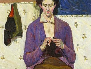 Pintura tejiendo