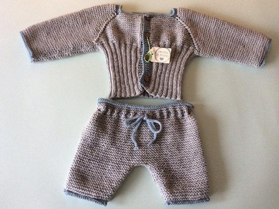 Conjunto jersey elástico y pantalón largo