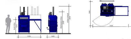 Двухкамерный пресс L30-2 габаритные размеры