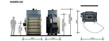 Вертикальный пресс L50-1 габаритные размеры