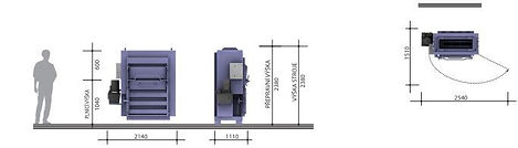 Пресс L30-1N  габаритные размеры