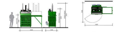 Вертикальный пресс L20-1 габариы пресса