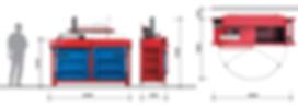 Вертикальный пресс L8-2 габаритные размеры