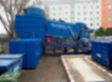 Пресс для перегруза отходов
