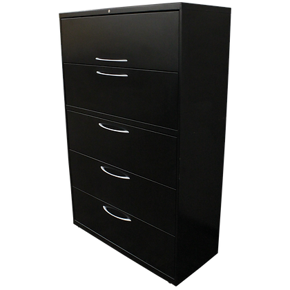"""Allsteel 42"""" Black 5-High Lateral File"""