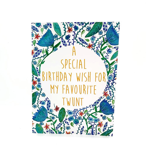 A Meanie Birthday Card