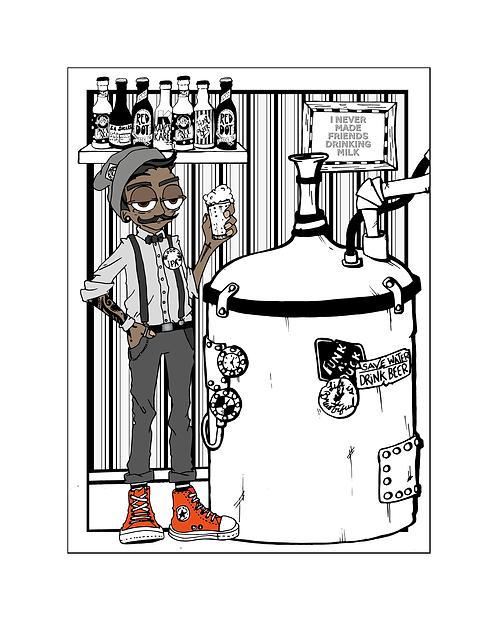 Personalised  Portrait: Craft Beer