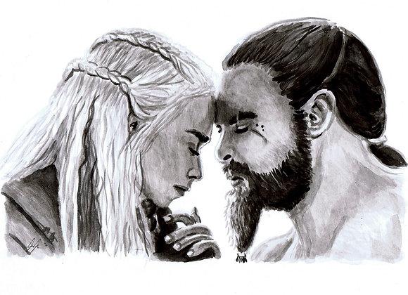 "Emilia Clarke & Jason Momoa ""Daenerys Targaryen & Khal Drogo"""