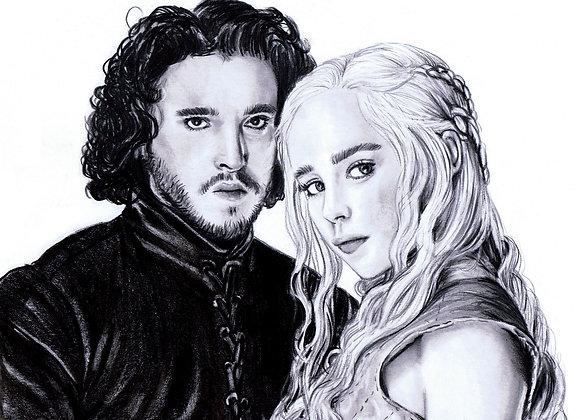 """Emilia Clarke & Kit Harington """"Daenerys Targaryen & Jon Snow"""" 2"""