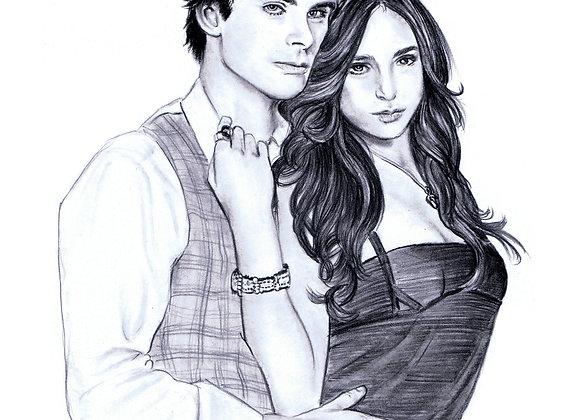 "Ian Somerhalder and Nina Dobrev ""Damon & Elena"""